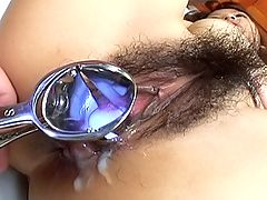Miyo Kasuge hot Asian slut sucks two cocks at once when she is partying