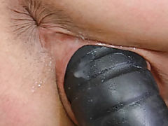Big Dildo Leaves Her Pussy Stretched