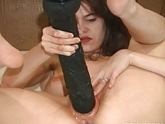 Tiny Teen Slut Fucks Herself Fast With Brutal Dildo