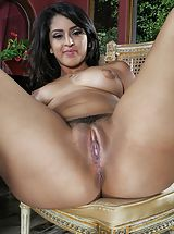 Photo Set No. 1314 Sophia Leone unveils her sizeable boobies and spreads her god given cunt