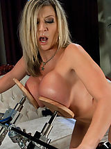 Weird Sex Toys and Huge Dildos inside pussy of Sara Jay