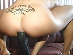 Dirty Teen Slut Takes A Brutal Dildo In Deep
