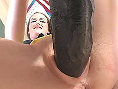 Hailey Getting Fucked By A Brutal Dildo