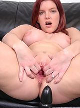 Candi Max's Out Her Pussy With A Huge Brutal Dildo