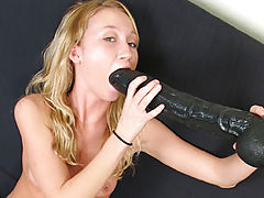 fake vagina, Phoenix stuffing a brutal dildo in her tight ass